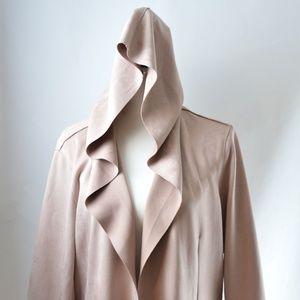 Zara Pink Faux Suede Jacket